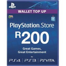 PlayStation Network PSN R200 Wallet Top Up South Africa